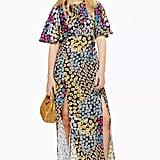 Topshop Austin Floral Daisy Print Angel Sleeve Midi Dress