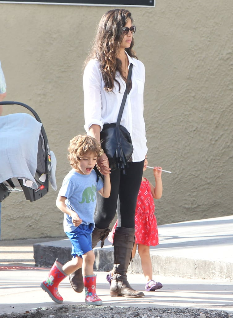 Camila Alves was out in New Orleans on Friday with her kids Levi McConaughey and Vida McConaughey.