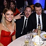 Aaron Paul and his wife, Lauren Parsekian, hung out with Bryan Cranston.  Source: Larry Busacca/NBC/NBCU Photo Bank/NBC