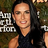 Demi Moore was glowing with neutral makeup and glossy waves.