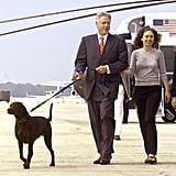 President Bill Clinton With Chelsea and Buddy, 1998
