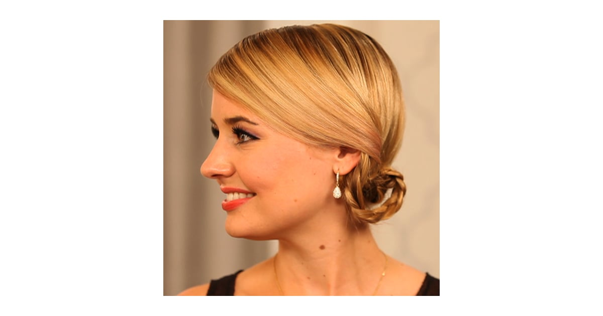 Charlize Therons Braided Updo Hair Tutorial Popsugar Beauty