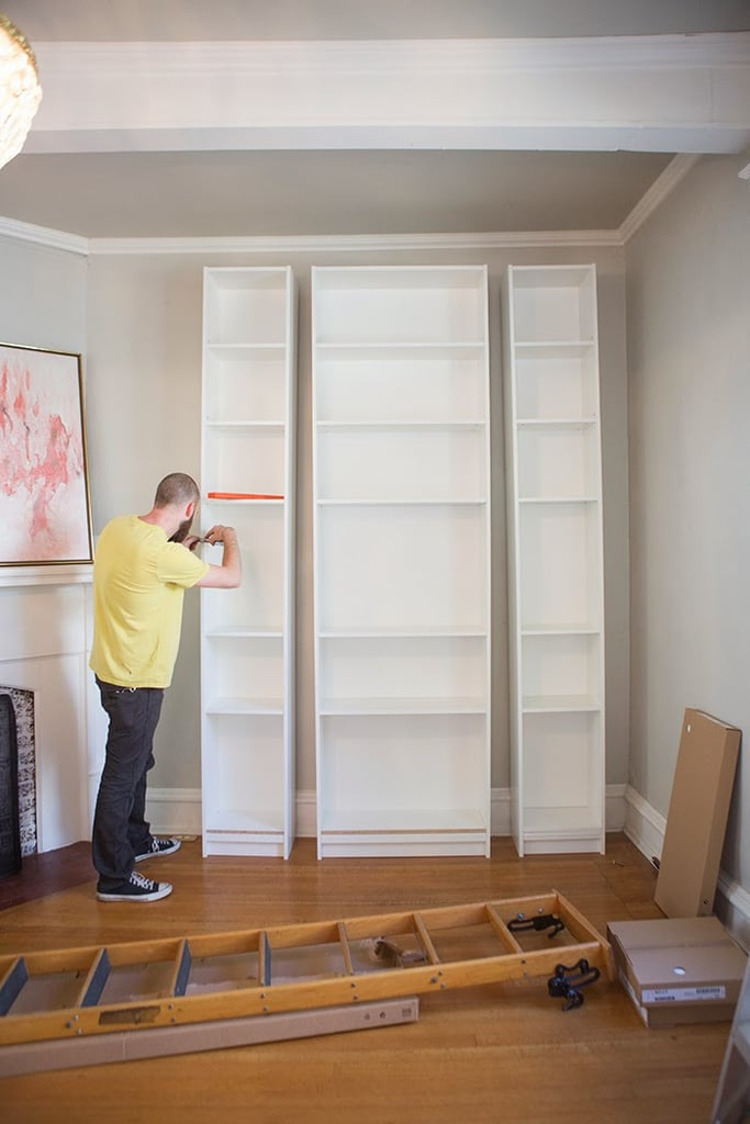 ikea billy bookcases 40 60 of various sizes are assembled together to create - Ikea Billy Bookshelves