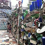 Marvel at the Magic Garden's mosaic masterpieces.