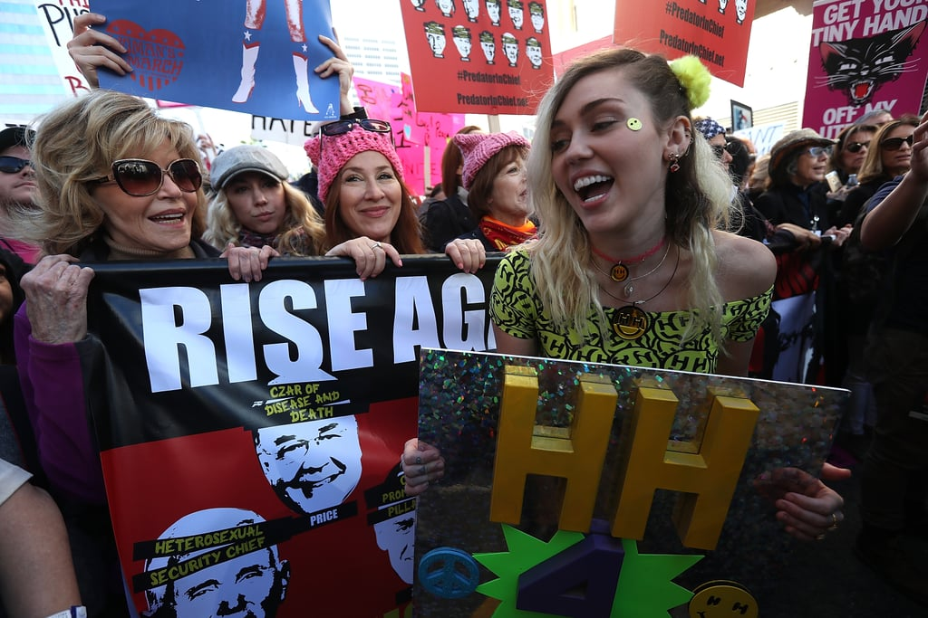 History was made on Saturday when hundreds of thousands of people around the country came together for the Women's Marches. While several stars showed their support on Instagram, a handful of other celebrities rallied together and hit the streets. John Legend, Chelsea Handler, and Charlize Theron were at the centre of the action in Park City, UT, while Katy Perry, Chrissy Teigen, and Jason Sudeikis joined forces in Washington DC. Cher and Madonna even put their rumoured feud aside and Ashley Judd fired up the crowd with a powerful speech. Read on to see all the stars who popped up at the marches.      Related:                                                                                                                                Scarlett Johansson Gets Incredibly Candid About Going to Planned Parenthood at 15