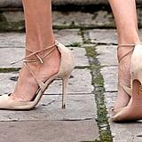 Meghan's Beige Aquazzura Heels