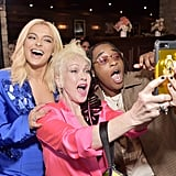 Bebe Rexha, Cyndi Lauper, and Jozzy at the 2020 Women in Harmony Brunch in LA
