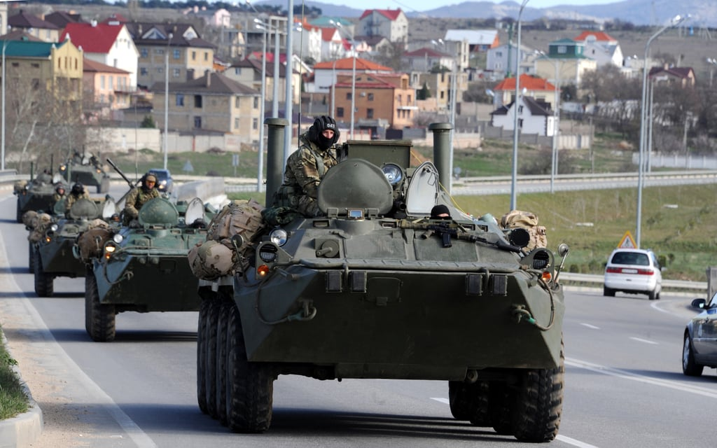"Also following the vote, armored Russian military vehicles drove north from the Crimean city of Sevastopol toward the capital of Simferopol. Ukraine's foreign minister denounced it as a ""provocation."""