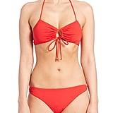 Shoshanna Lattice-Back Halter Bikini Top ($120) and Bottom ($99)