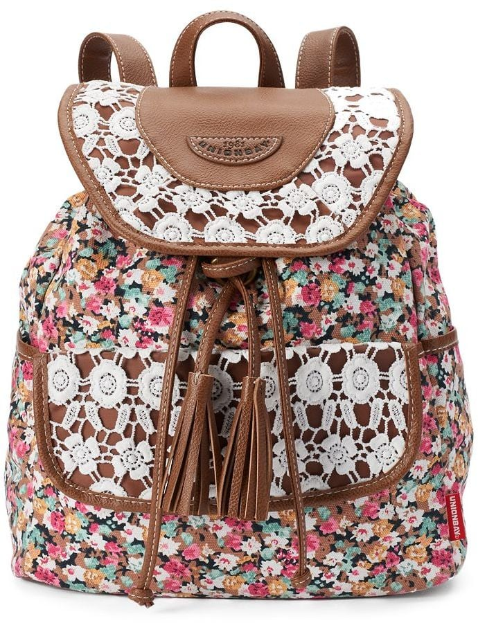 Floral Lace Mini Backpack