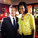 Ryan Seacrest seized an opportunity to pose with the first lady. Source: Instagram user ryanseacrest