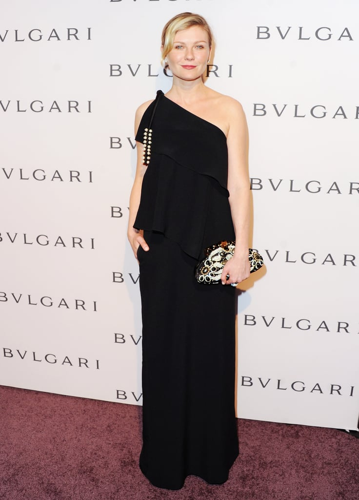 Kirsten Dunst wore Chloé at the Elizabeth Taylor Bulgari event in Los Angeles.
