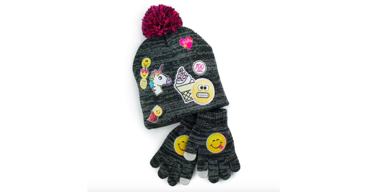 Knitting Emoji Copy : Emoji knit hat and gloves set gifts for kids