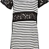The t-shirt dress just got fancier. Try the familiar silhouette in Sea's striped style ($295) with lace inserts at the stomach and sleeve.
