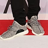 A close-up of Kanye's new shoes.