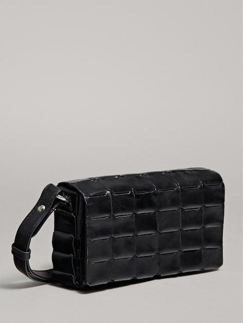 Massimo Dutti Braided Leather Crossbody Bag