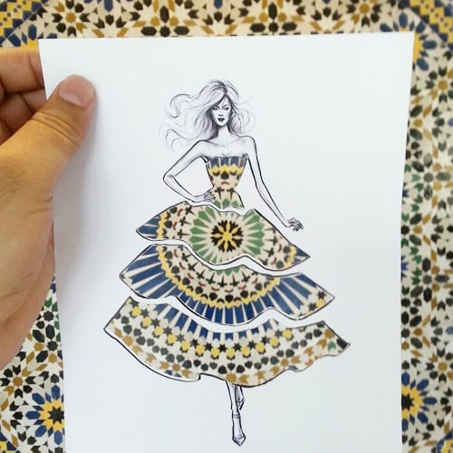 Cutout Fashion Sketches