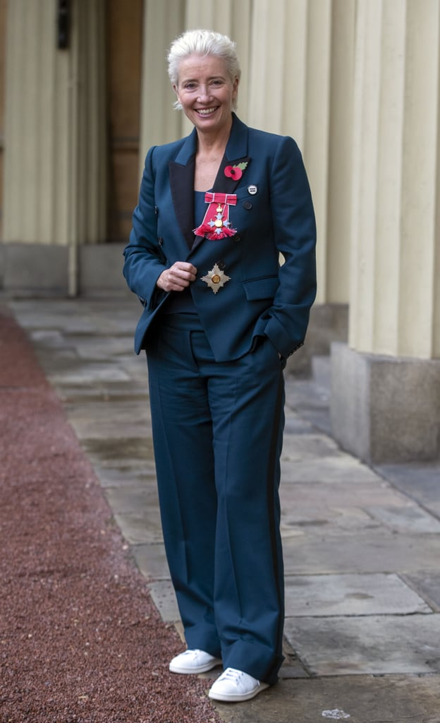 Emma Thompson Wore Sneakers to Buckingham Palace