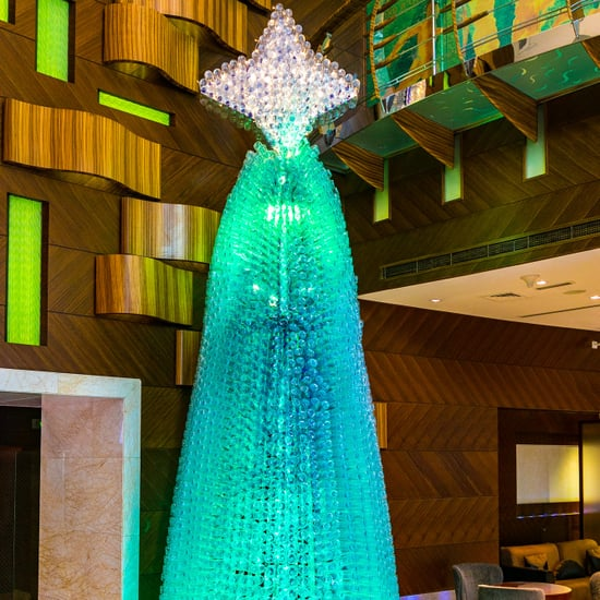 Warwick Hotel Dubai Christmas Tree From 4000 Plastic Bottles