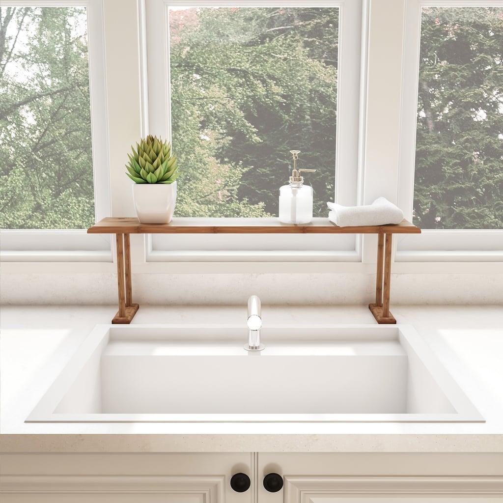 Bamboo Sink Shelf-Countertop Organizer