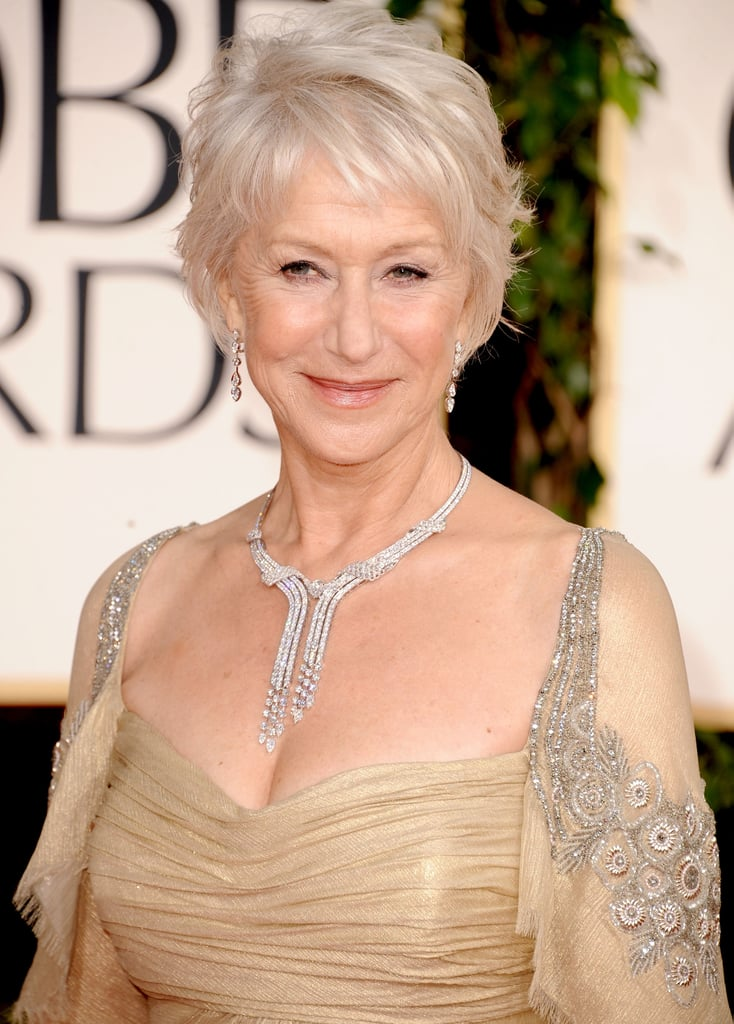 The lovely Helen Mirren wins best necklace of the night ...