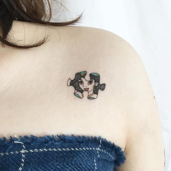 Tiny Disney Princess Tattoos