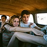 Sam Riley, Kristen Stewart, and Garrett Hedlund in On the Road.  Photo courtesy of MK2 Productions