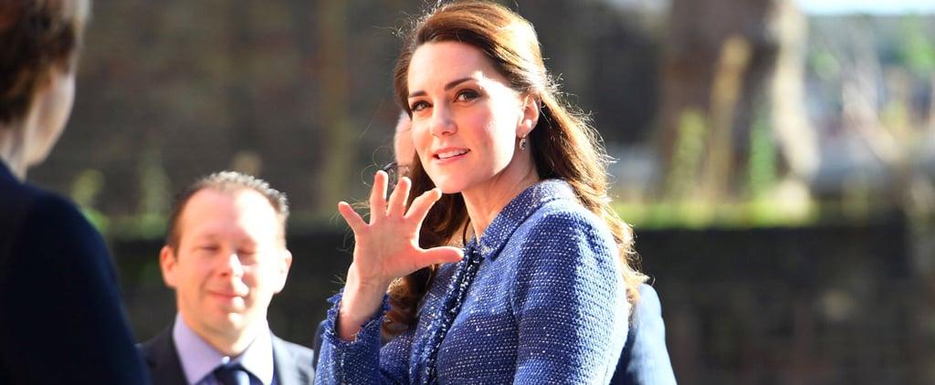 Kate Middleton's Blue Rebecca Taylor Suit