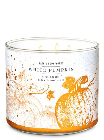 Bath & Body Works White Pumpkin 3-Wick Candle