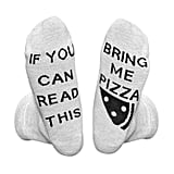 IF YOU CAN READ THIS Pizza Socks