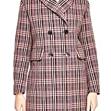 Sandro Plaid Coat