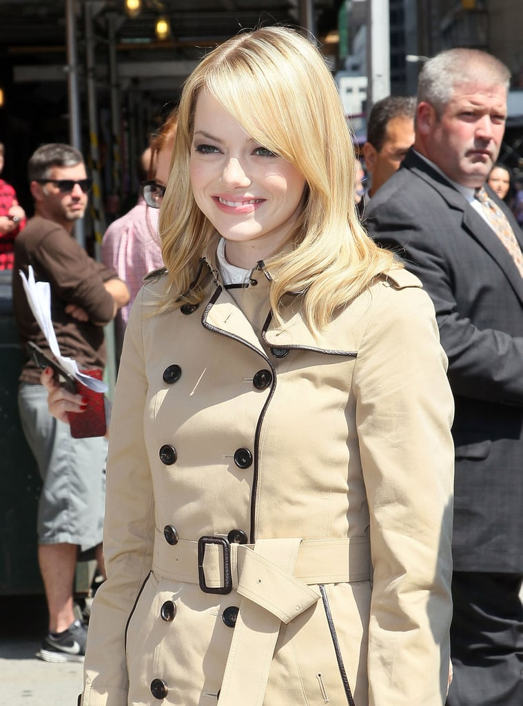 Emma Stone Hits the Trenches For Late-Night Fun