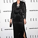 Molly Sims wore a black outfit at the Elle Women in TV event.