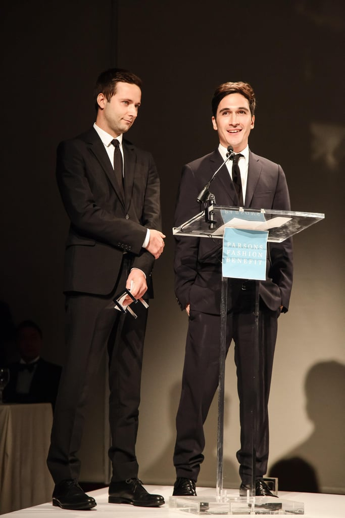 Jack McCollough and Lazaro Hernandez at a Parsons benefit honoring Bonnie Brooks and Proenza Schouler in New York. Source: Matteo Prandoni/BFAnyc.com