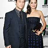 Marion Cotillard and Joseph Gordon-Levitt posed at the Hollywood Film Awards gala in Los Angeles.