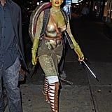 Rihanna was a sexy Teenage Mutant Ninja Turtle in 2014.