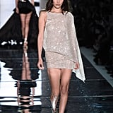 Bella Hadid Wore a Shimmery Dress Down the Alexandre Vauthier Runway