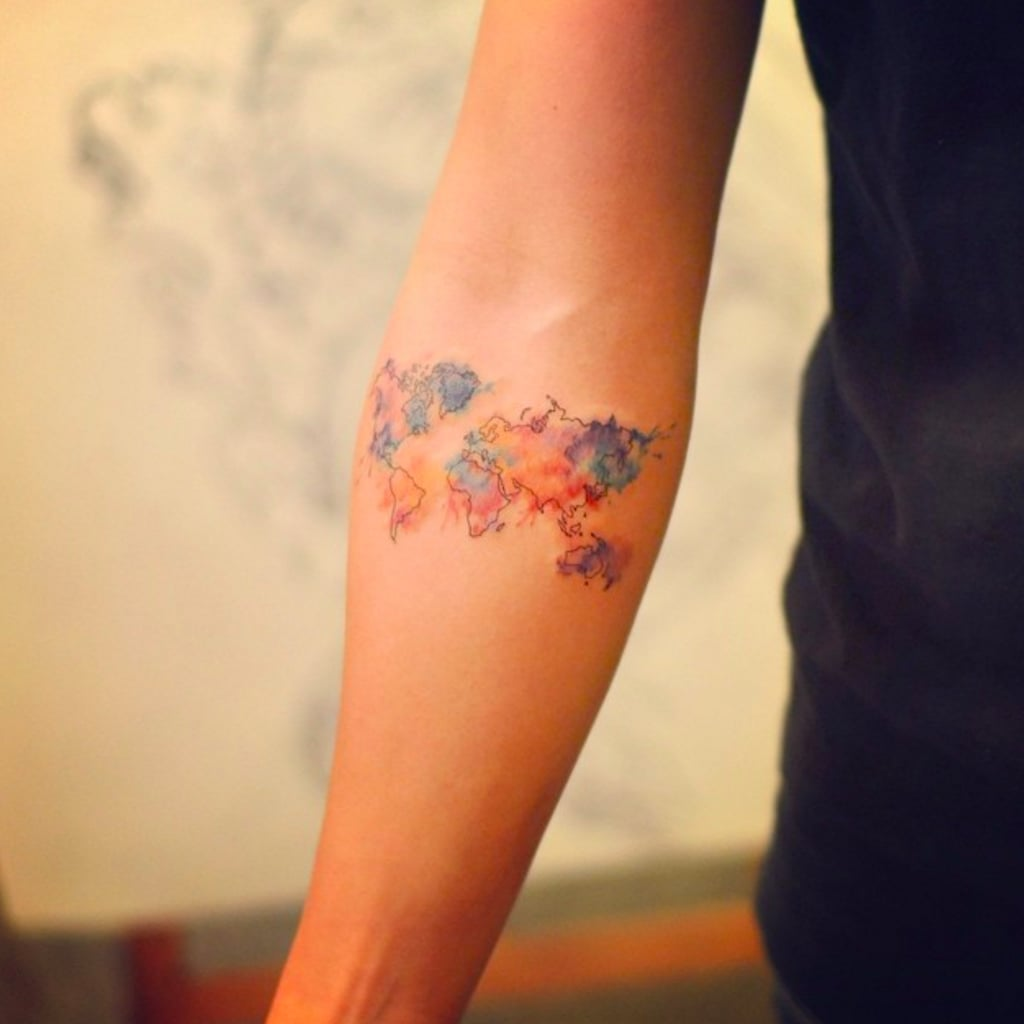 Map tattoos popsugar smart living gumiabroncs Choice Image