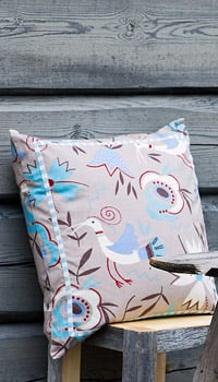 Rosefinch Cotton Cushion Cover in Red ($23)