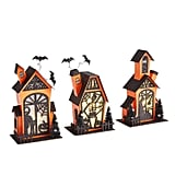 LED Light-Up Halloween Spooky Houses Set of Three