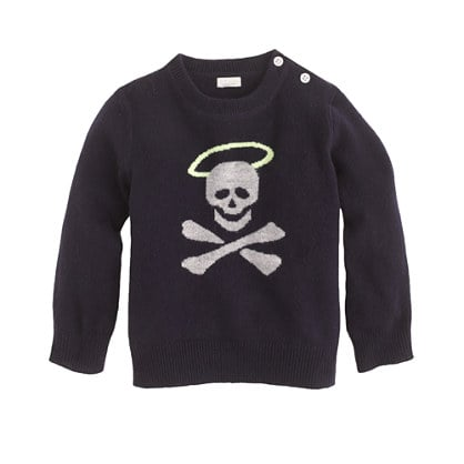 If your baby's style is more cutting edge than classic, Crewcuts' Collection cashmere sweater ($145), featuring an angelic skull, may be just the thing!