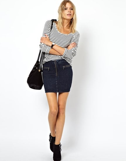 Wear this ASOS uber high-waisted tube skirt ($44) right into Winter with your favorite ankle boots and black tights.
