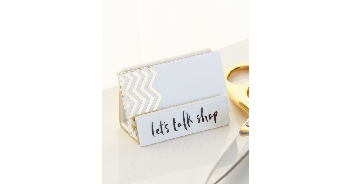 kate spade desktop business card holder holiday gifts for female co workers popsugar career and finance photo 2 - Kate Spade Business Card Holder