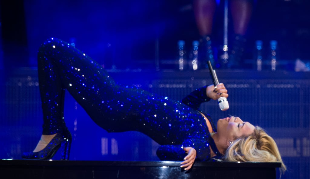 Beyoncé busted out her sexiest moves while performing on stage at the V Festival in England in August 2013.
