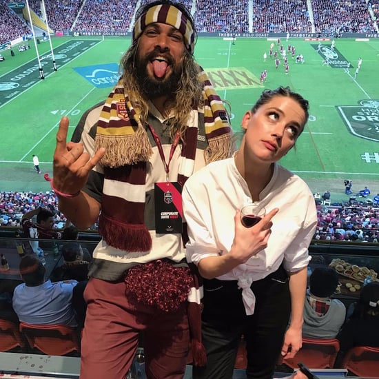 Jason Momoa and Amber Heard at State of Origin 2017