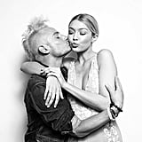 Frankie Grande Gave Gigi a Birthday Smooch