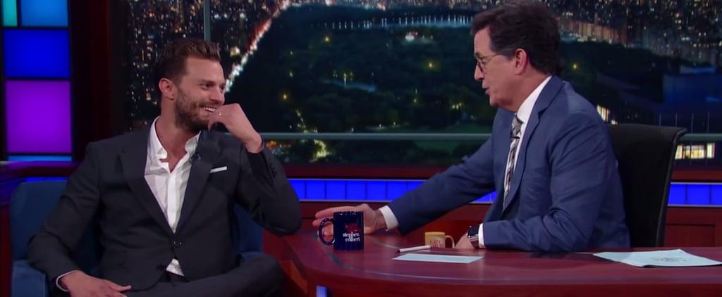 Jamie Dornan on The Late Show August 2016