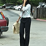 Camila Alves headed out to lunch with Matthew McConaughey and son Levi on Easter Sunday in Texas.