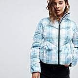 ASOS DESIGN check puffer jacket