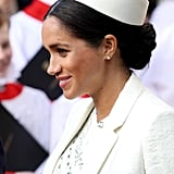 Meghan Markle's Low Neat Knot, 2019